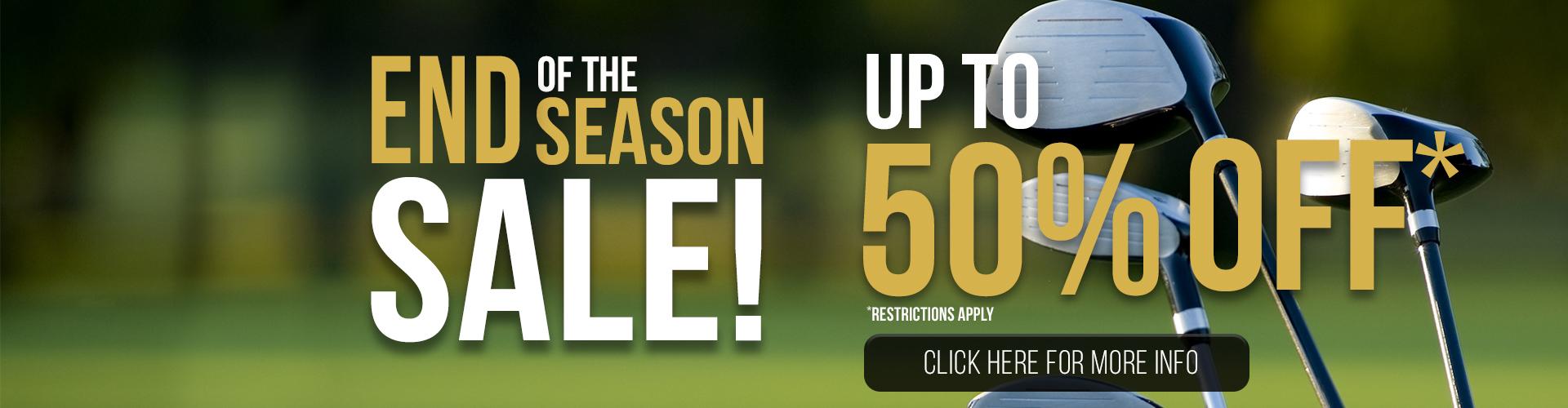 End of the Season Sale!