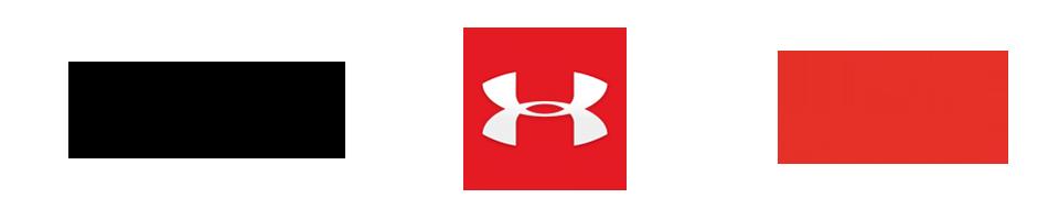Nike, Under Armour, Puma