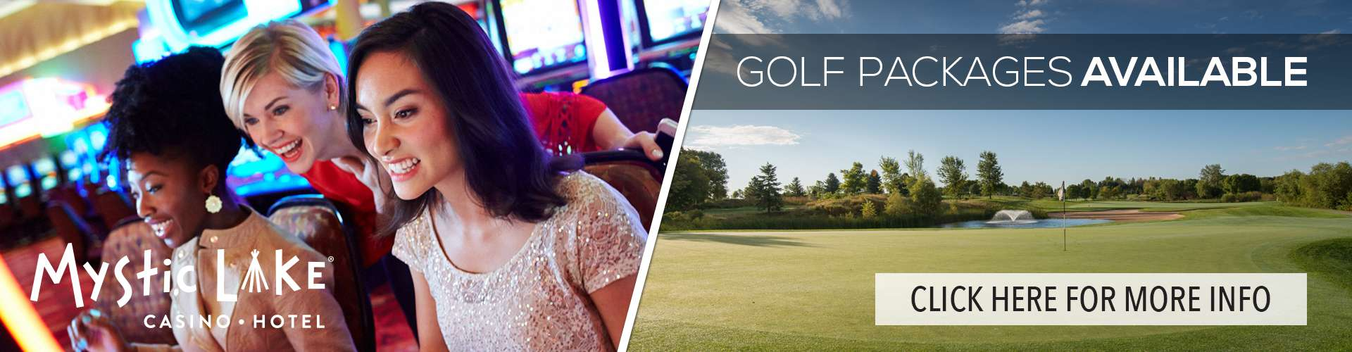 Mystic Lake Casino Hotel Golf Packages Available